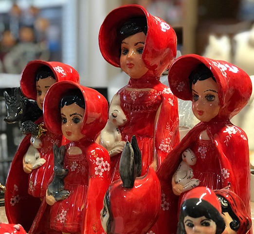 Ceramic figurine doll little riding hood fugi naim